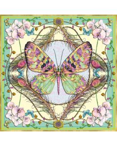 Museums and Galleries Matthew Williamson Greeting Card DNA Print Butterfly and Orchids