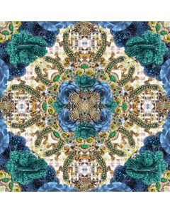 Museums and Galleries Matthew Williamson Greeting Card DNA Print Blue Precious Rose