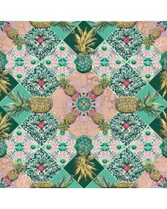 Museums and Galleries Matthew Williamson Greeting Card DNA Print Pineapple Tile