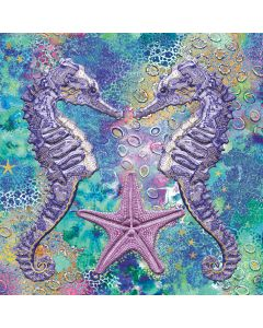 Museums and Galleries Matthew Williamson Greeting Card DNA Print Seahorses