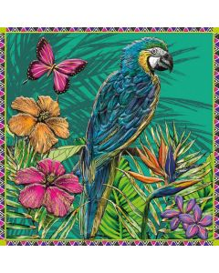 Museums and Galleries Matthew Williamson Greeting Card DNA Print Parrot and Butterfly
