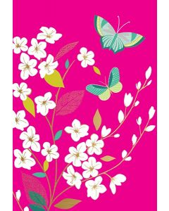Sara Miller London Butterfly on Pink Notecards Box of 10
