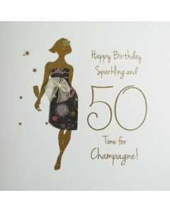 Happy Birthday, Sparkling & 50, Time for Champagne! - #NE33