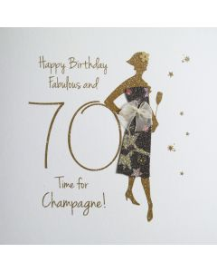 Happy Birthday, Fabulous & 70, Time for Champagne! - #NE35