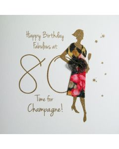 Happy Birthday, Fabulous at 80, Time for Champagne! - #NE36