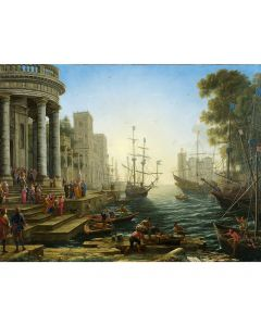 Portfolio, National Gallery Greeting Card Seaport with The Embarkation of Saint Ursula by Claude