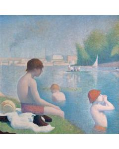 Portfolio, National Gallery Greeting Card Bathers at Asnieres (Detail) by Seurat 1884