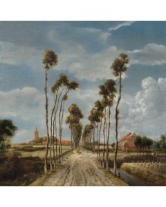 Portfolio, National Gallery Greeting Card The Avenue at Middelharnis by Hobbema