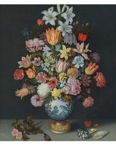 Portfolio, National Gallery Greeting Card A Still Life of Flowers in a WanLi Vase by Bosschaert