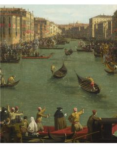 Portfolio, National Gallery Greeting Card Venice: A Regatta on The Grand Canal by Canaletto