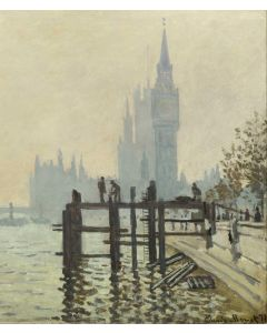 Portfolio, National Gallery Greeting Card The Thames Below Westminster by Monet