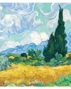 Portfolio, National Gallery Greeting Card A Wheatfield, with Cypresses by Van Gogh