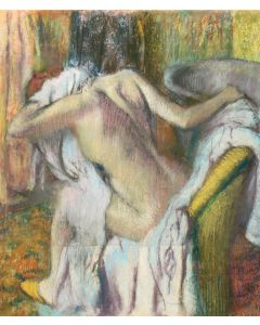Portfolio, National Gallery Greeting Card After The Bath by Degas, Woman Drying Herself