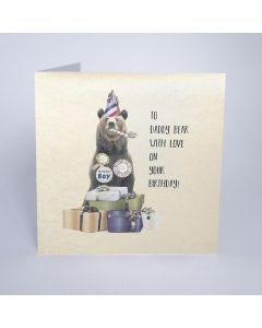 Five Dollar Shake Birthday Card To Daddy Bear, With Love on Your Birthday