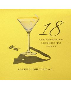 Five Dollar Shake Birthday Card 18 and Officially Licensed to Party