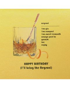 Five Dollar Shake Birthday Card Happy Birthday (I'll Bring the Negroni)