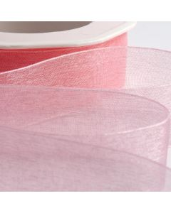 ,Italian Options - Organza Woven Edge Ribbon Pink