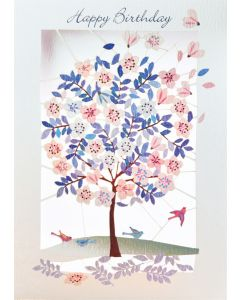 Forever Cards Laser Cut Birthday Card Blossom Tree
