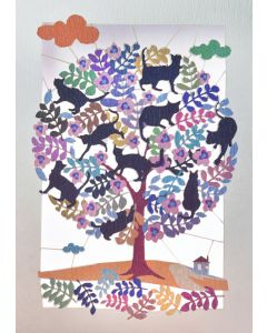 Forever Cards Laser Cut Blank Card Tree Full Of Cats