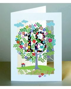 Forever Cards Laser Cut Birthday Card Age 18 Tree