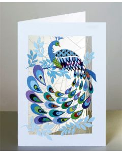 Forever Cards Laser Cut Blank Card Peacock