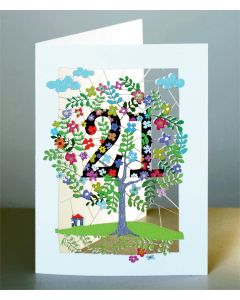 Forever Cards Laser Cut Birthday Card Age 21 Tree