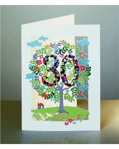 Forever Cards Laser Cut Birthday Card Age 30 Tree