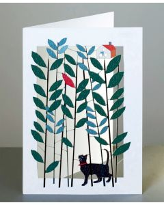 Forever Cards Laser Cut Blank Card Cat Exploring