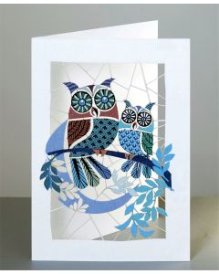 Forever Cards Laser Cut Card  Owls and Moon