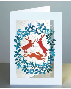 Forever Cards Laser Cut Blank Card Three Hares