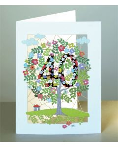 Forever Cards Laser Cut Birthday Card Age 40 Tree