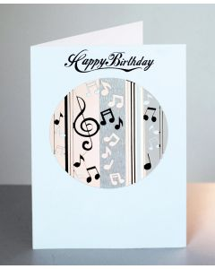 Forever Cards Laser Cut Birthday Card Music Notes