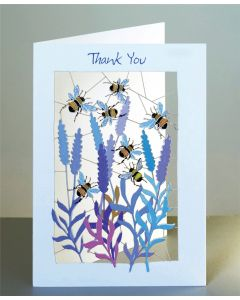 Forever Cards Laser Cut Thank You Card Bumblebees