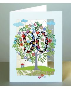 Forever Cards Laser Cut Birthday Card Age 90 Tree