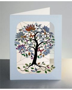 Forever Card Laser Cut Card  London Exotic Tree Curly Stems