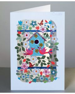 Forever Cards Laser Cut Blank Card Birds and Nestbox