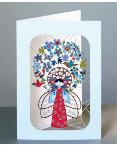 Forever Cards Laser Cut Blank Card Fairy and Flowers