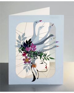 Forever Cards Laser Cut Blank Card Grey Geese Hat