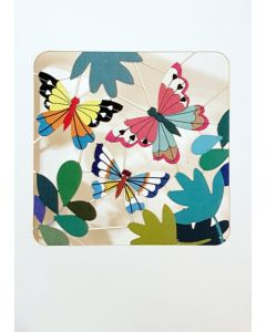 Forever Cards Laser Cut Blank Card Colorful Butterflies