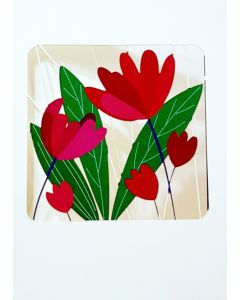Forever Cards Laser Cut Blank Card Tulips