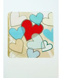 Forever Cards Laser Cut Blank Card Jumbled Hearts