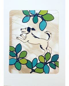 Forever Cards Laser Cut Blank Card Leaping Dog