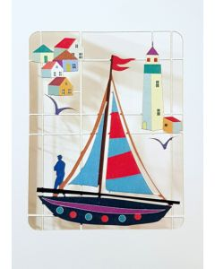 Forever Cards Laser Cut Blank Card Fishing Boat