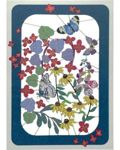 Forever Cards Laser Cut Blank Card Butterflies And Flowers