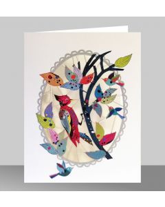 Forever Cards Laser Cut Blank Card Woodpecker