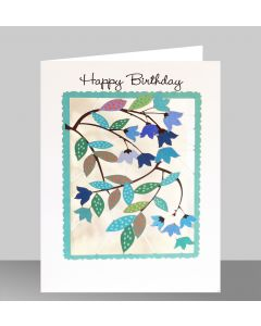 Forever Cards Laser Cut Birthday Card Leaves