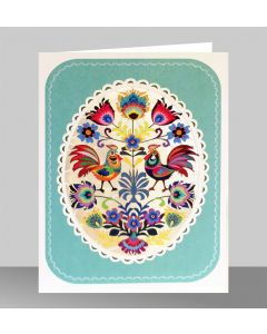 Forever Cards Laser Cut Blank Card Chickens In An Oval