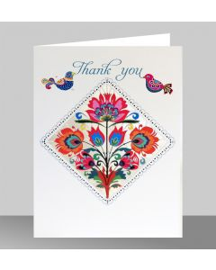 Forever Cards Laser Cut Thank You Card Flower Diamond