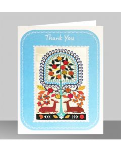 Forever Cards Laser Cut Thank You Card Chivalric Deer