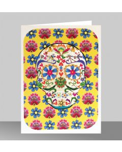 Forever Cards Laser Cut Blank Card Yellow Skull